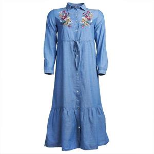 تصویر پیراهن گلدار نخی آستین بلند زنانه برند MAX مدل FS08CL