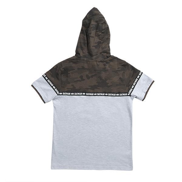 تصویر هودی طرحدار نخی دو رنگ آستین کوتاه پسرانه برند MAX مدل SS21BTMS17B