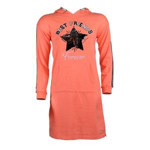 تصویر هودی-پیراهن طرحدار آستین بلند دخترانه برند MAX مدل SS21CATDR20G