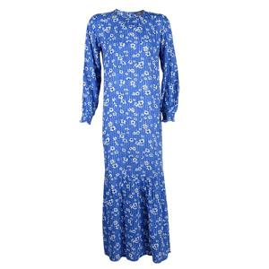 تصویر پیراهن زنانه بلند آبی گلدار برند MAX مدل CR05CL