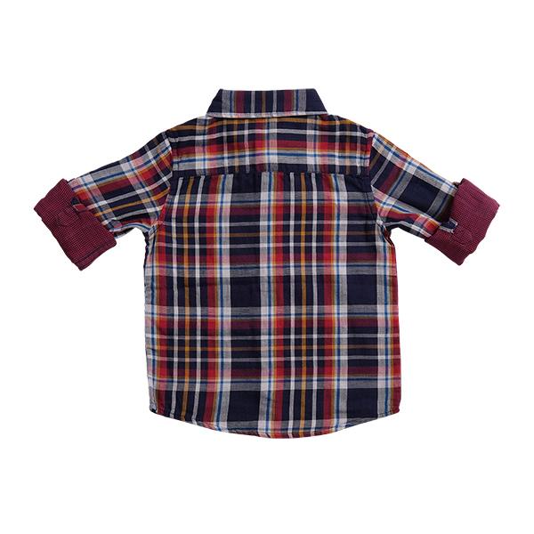 تصویر پیراهن چارخونه نخی بچگانه پسرانه برند MAX مدل SS21SH04TB
