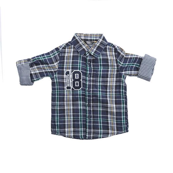 تصویر پیراهن چارخونه نخی بچگانه پسرانه برند MAX مدل SS21SH02TB