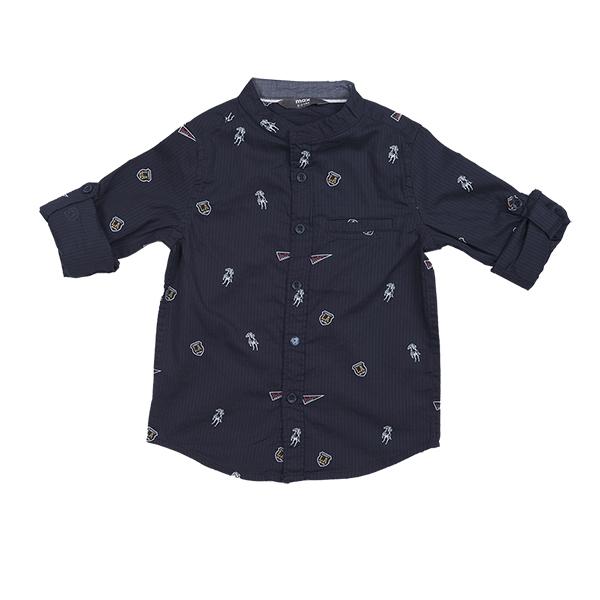 تصویر پیراهن طرحدار نخی یقه دیپلمات بچگانه پسرانه برند MAX مدل SS21SH06TB