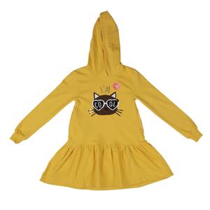 تصویر پیراهن کلاهدار نخی آستین بلند دخترانه برند MAX مدل SS21CATDR06G
