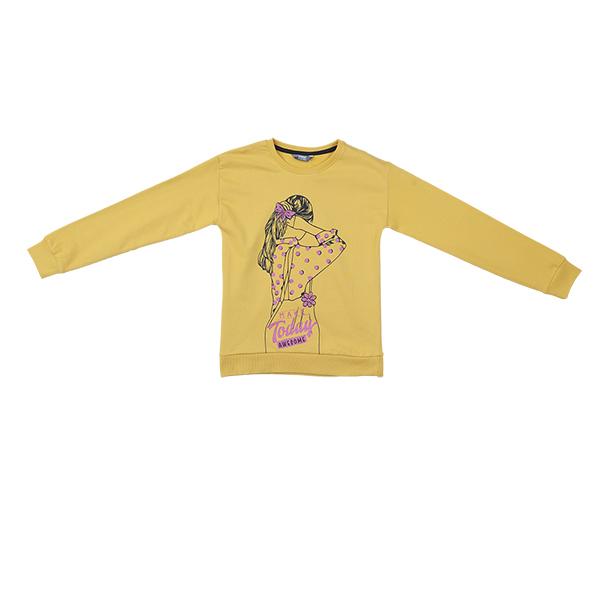 تصویر بلوز طرحدار نخی آستین بلند دخترانه برند MAX مدل SS21CATSWT02G